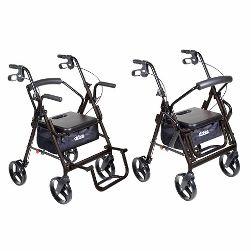 "Duet Rollator/Transport Chair, 8"" Casters (Black)"
