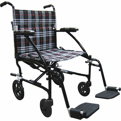 Fly-Lite Aluminum Transport Chair (Black)