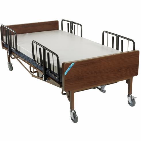 Full Electric Heavy Duty Bariatric Hospital Bed with T Rails and Mattress
