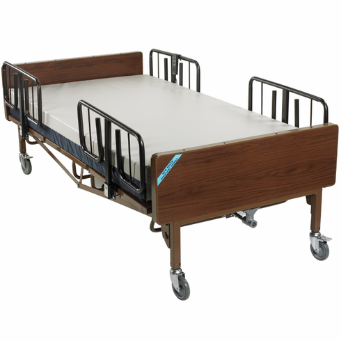Full Electric Super Heavy Duty Bariatric Hospital Bed with Mattress and T Rails