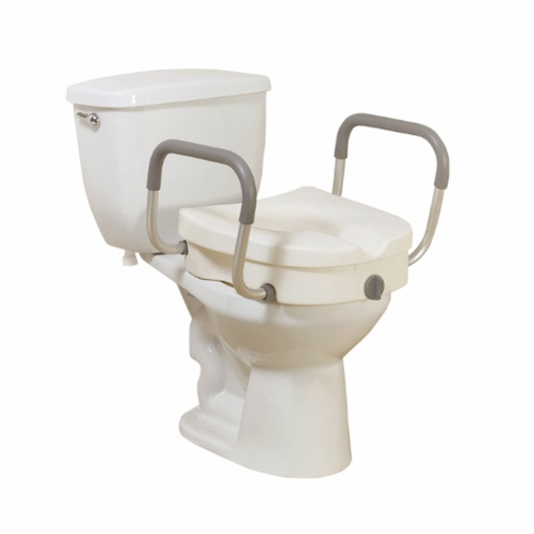 K.D. 2 in 1 Elevated Toilet Seat Tool-Free Removable Arms
