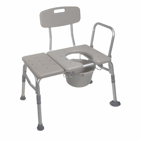 K.D. Combination Plastic Transfer Bench/Commode