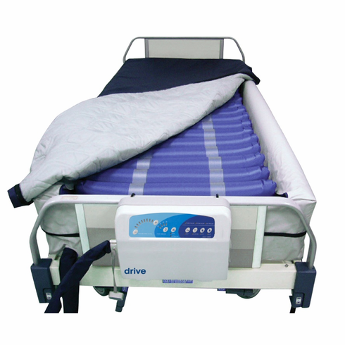 "Med Aire 8"" Defined Perimeter Low Air Loss Mattress Replacement System with Low Pressure Alarm"