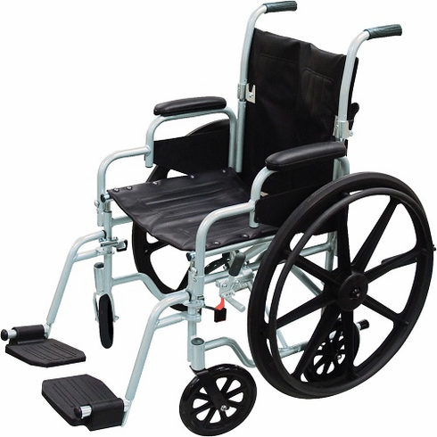 Poly Fly Light Weight Transport Chair 16 wide Seat tr16