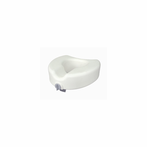 Premium Plastic Elevated, Regular/Elongated Toilet Seat with Lock