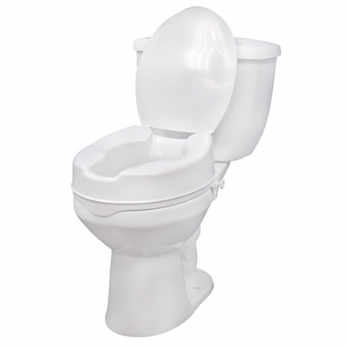 """Raised Toilet Seat with without Lid 4"""" 12065"""
