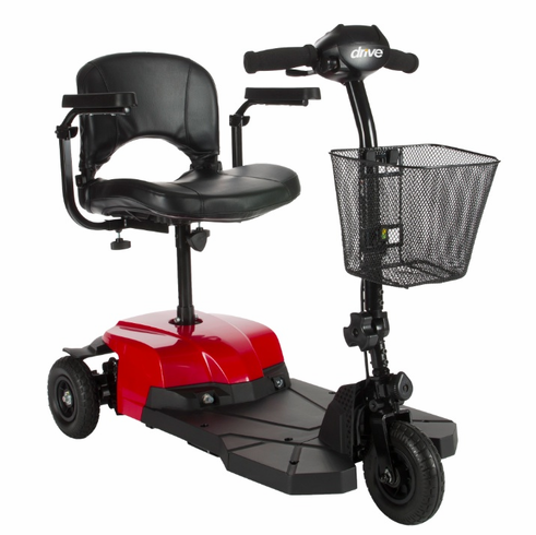 Red Bobcat X3 3 Wheel Compact Transportable Scooter