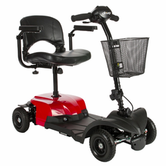 Red Bobcat X4 4 Wheel Compact Transportable Scooter