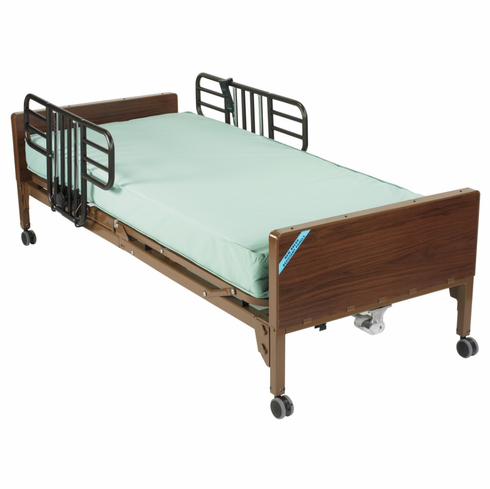 Semi Electric Bed with Half Rails and Innerspring Mattress