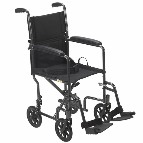 Steel Transport Chair (Silver Vein)