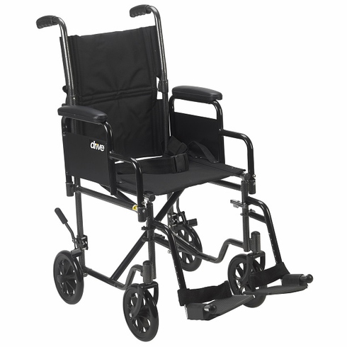 Steel Transport Chair With Removable Arms (Silver Vein)