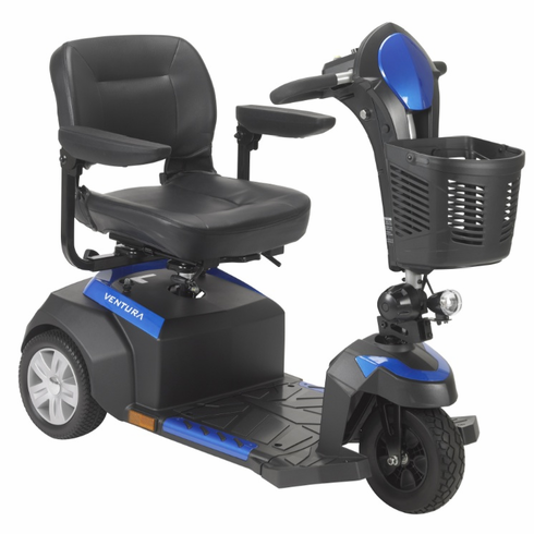 Ventura 3 Wheel Scooter with Folding Seat 18x17.5 350lbs