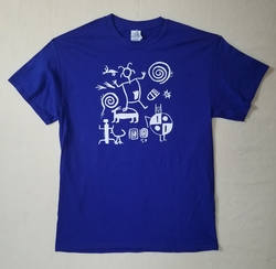 Petroglyphs on Adult Cobalt T Shirt