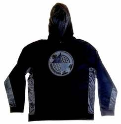 Black and Grey Split Plate Sport-Tek Hooded Pullover
