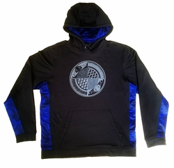 Black and Royal Split Plate Sport-Tek Hooded Pullover