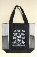 Butterflies - Tan Panel Tote Bag