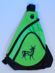 Deer on Lime Green Sling Pack