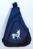 Deer on Navy Sling Pack