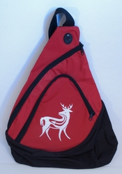 Deer on Red Sling Pack