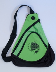 Fish on Lime Green Sling Pack