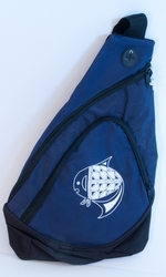 Fish on Navy Sling Pack