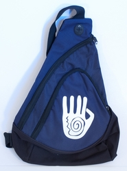 Handprint on Navy Sling Pack