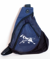 Horse on Navy Sling Pack