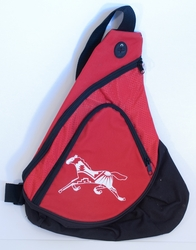 Horse on Red Sling Pack
