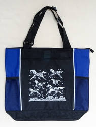 Mesa Ponies - Royal Blue Panel Tote Bag