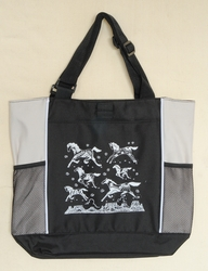 Mesa Ponies - Tan Panel Tote Bag