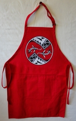 Mimbres Lizard on a Long Red Apron