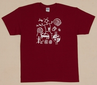 Pertoglyphs Adult Antique Cherry Red Adult T Shirt