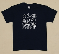 Petroglyphs on  Adult Black T Shirt