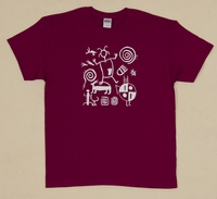 Petroglyphs on Berry Adult T Shirt