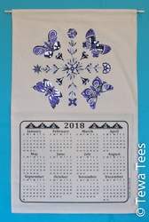 Pottery Butterfly - Purple 2018 TT Calendar