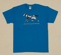 Running Pony on Antique Royal Adult T Shirt