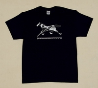 Running Pony on Black Adult T Shirt