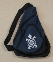 Turtle on Navy Sling Pack