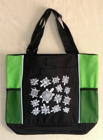 Turtles - Lime Green Panel Tote Bag