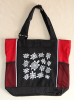 Turtles - Red Panel Tote Bag