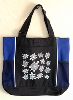 Turtles - Royal Blue Panel Tote Bag