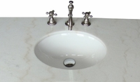 """21 inch Traditional Classic Small Size Bathroom Vanity Antique White Color  (21""""Wx19""""Dx33""""H) C3006WAW"""