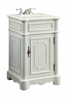 "21 inch Traditional Classic Small Size Bathroom Vanity Antique White Color  (21""Wx19""Dx33""H) C3006WAW"