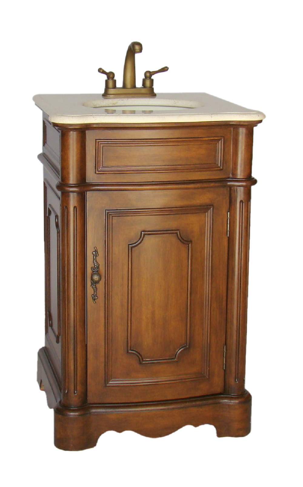 21 inch Traditional Small Size Bathroom Sink Vanity Medium ...