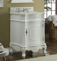 "24"" inch Bathroom Vanity Classic Antique White Color (24Wx21.75Dx34""H) HCBWV049WAW"