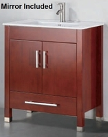"24 inch Bathroom Vanity Contemporary Style Chestnut Color (24""Wx19""Dx34""H) AMADIS 24C"