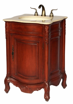 "24 inch Bathroom Vanity Traditional Antique Style Cherry Color (24""Wx21""Dx36""H) S2232505BE"