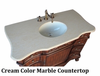 "27 inch Bathroom Vanity Traditional Style Medium Brown Color (27""Wx21.5""Dx33.5""H) CHF3305MTK27"