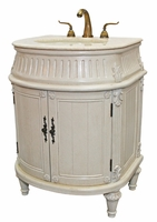 "26 inch Bathroom Vanity Traditional Style Antique White Color (26""Wx21""Dx34""H) S2191261BE"