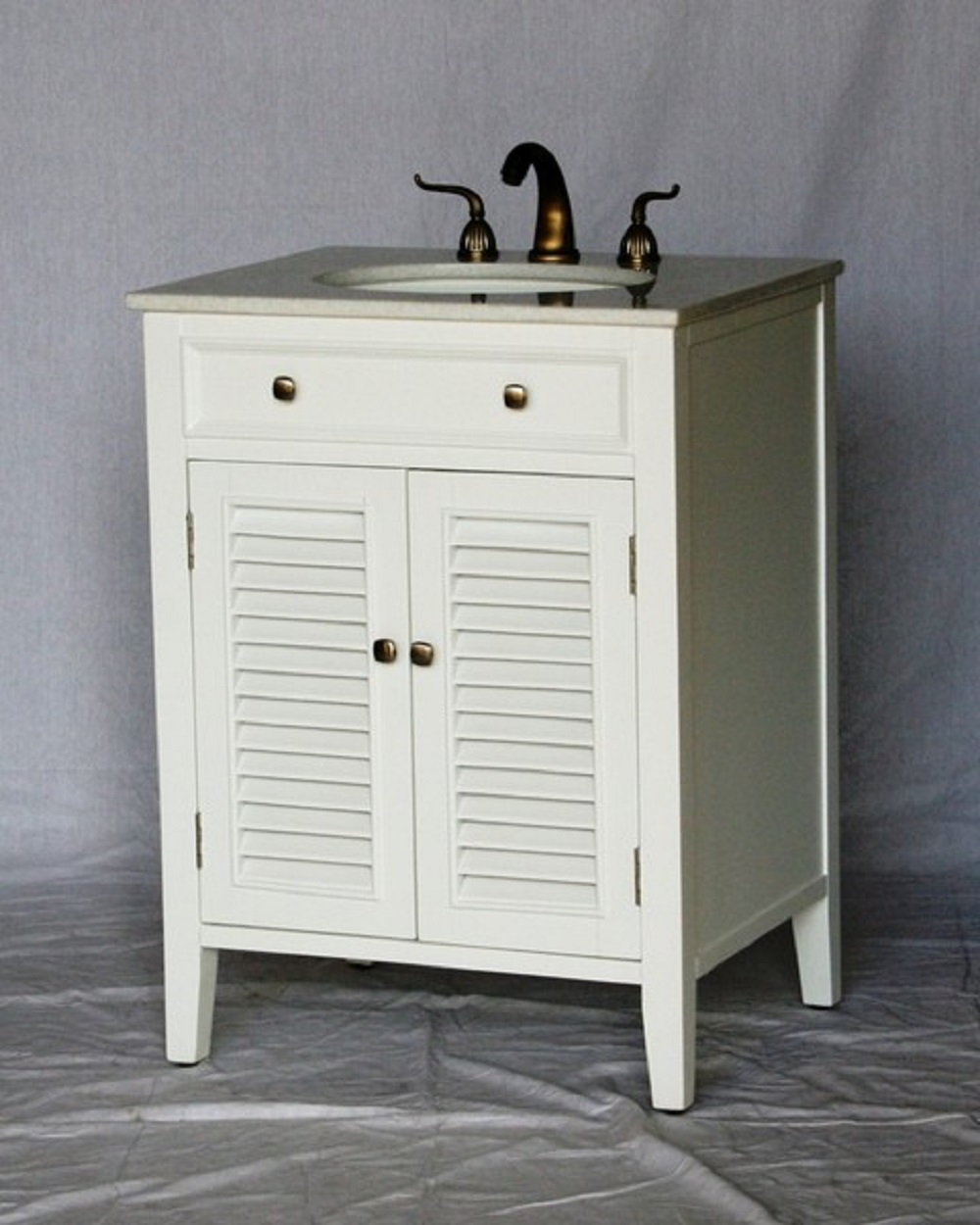 Nautical Style Bathroom Vanities: 26 Inch Bathroom Vanity Cottage Coastal Beach Style White